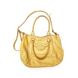 Tory Burch Yellow Leather Shoulder Satchel Bag